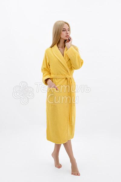 Халат махровый цвет желтый