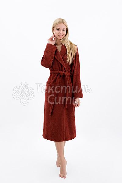 Халат махровый цвет бордо