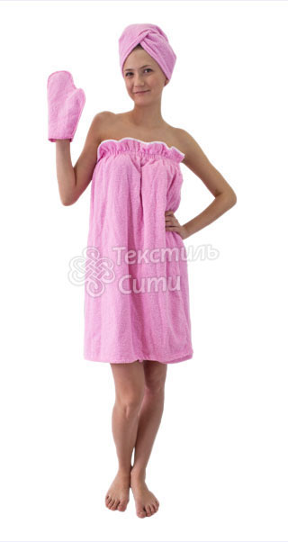 Полотенце на резинке для бани своими руками 65